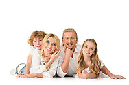 Family portrait, casual, in studio, candid formal, stylized, glamour, children, child, theme