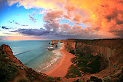 The Apostles just after a thunderstorm.<br /> Stuated on Victoria's Shipwreck Coast