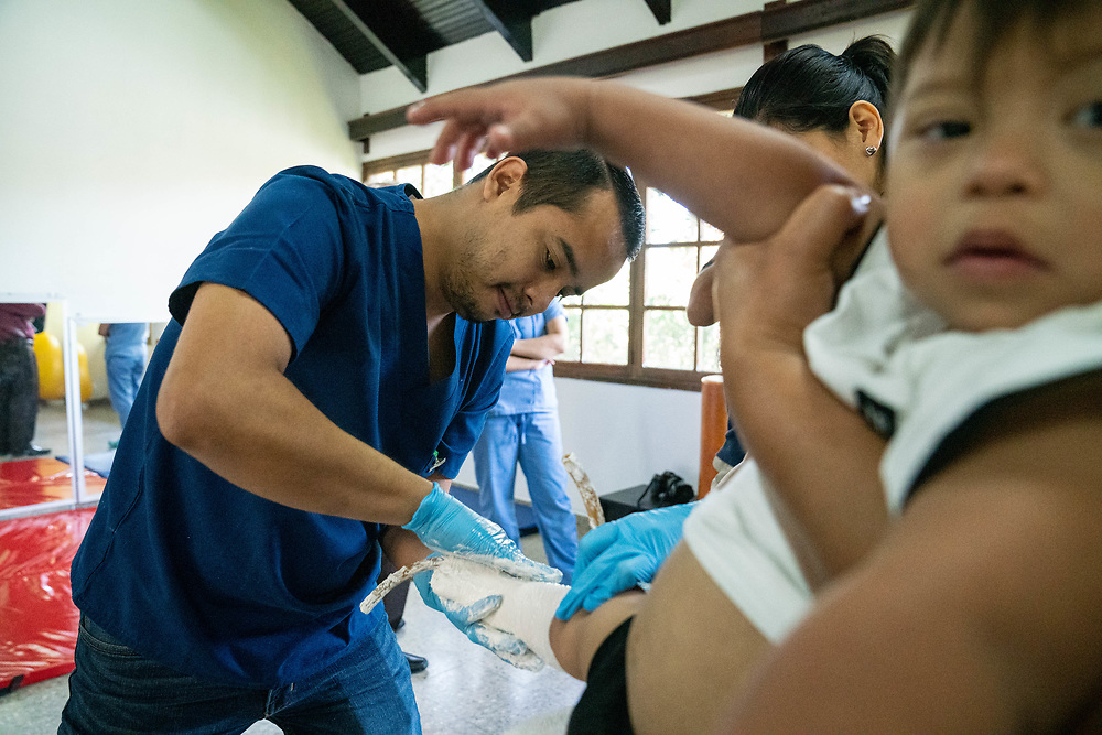 Dr. Marco Robles exams patients at the eye center at Occidente Hospital in Santa Rosa de Copan, Copan on Wednesday, February 26, 2020.     Photo by Ken Cedeno