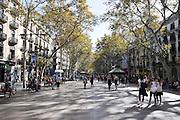 La Rambla (Las Ramblas), Barcelona, Spain
