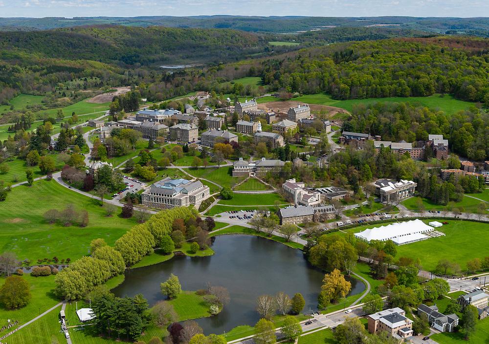 Aerial photos of the Village of Hamilton and Colgate University, May 16, 2019.<br /> Mark DiOrio / Colgate University