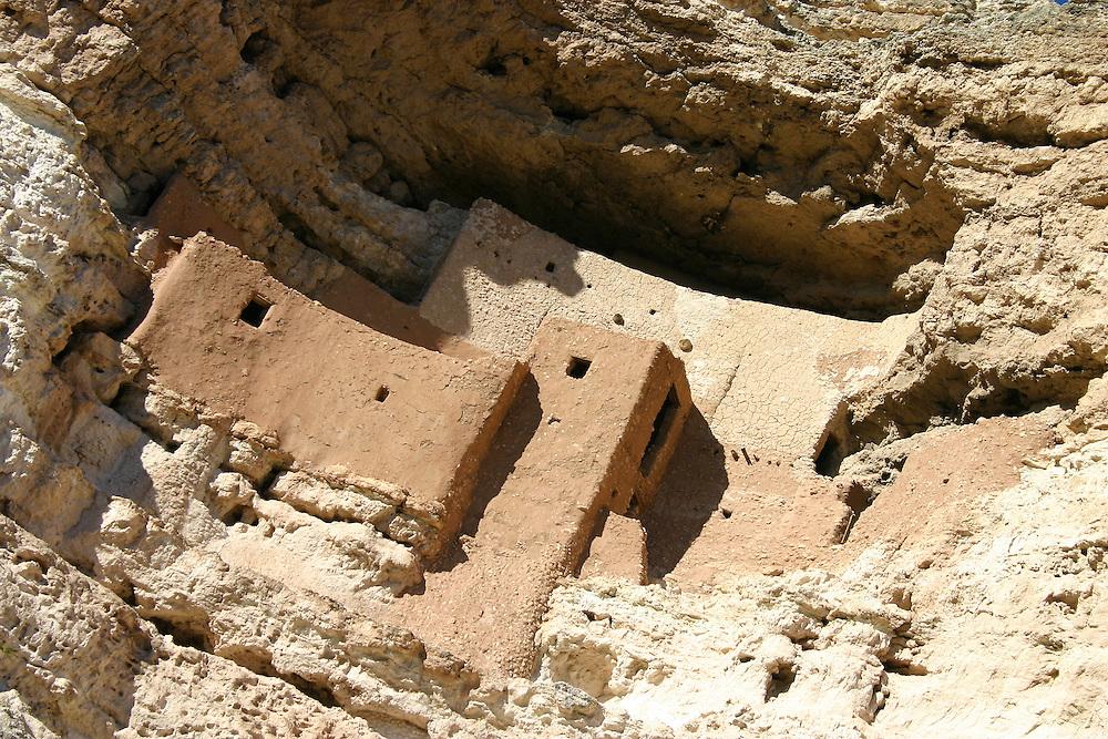 Montezuma Castle Historic Monument ancient cliff dwelling ruin, Camp Verde, Arizona USA