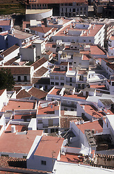 View of rooftops at Salobrena; Andalucia,