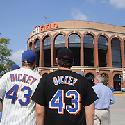 Fans arrive at Citi Field to see R.A. Dickey pitching during his 20th win of the season during the New York Mets v Pittsburgh Pirates regular season baseball game at Citi Field, Queens, New York. USA. 27th September 2012. Photo Tim Clayton