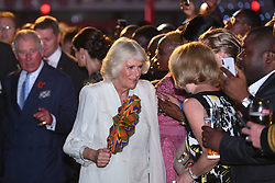 The Prince of Wales and Duchess of Cornwall attend a reception at the British High Commissioner's residence in Accra, Ghana, on day three of their trip to west Africa.