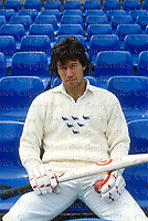 Pakistani cricketer Imran Khan seen during a visit to London in 1982.