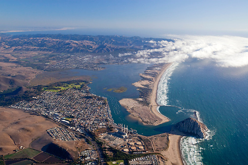 Aerial view of Morro Bay looking south.
