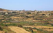 Rural landscape view from Zebbug towards Gharb, Gozo, Malta