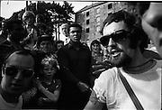 15/07/1972<br /> 07/15/1972<br /> 15 July 1972<br /> Muhammad Ali at Stewarts Hospital Fete, Palmerstown, Dublin. Ali's entourage keep the crowd back.