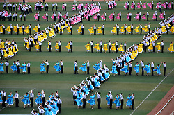 September 5, 2017 - Weifan, Weifan, China - Weifang, CHINA-5th September 2017: (EDITORIAL USE ONLY. CHINA OUT)..Seven hundred students perform waltz dance on the playground at a school in Weifang, east China's Shandong Province, September 5th, 2017. (Credit Image: © SIPA Asia via ZUMA Wire)