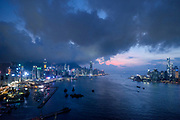 Nightfall over Hong Kong