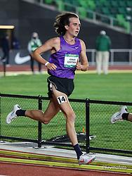 University of Oregon<br /> Oregon Relays track and field meet<br /> April 23-24, 2021 Eugene, Oregon, USA<br /> mens 5000, unattched