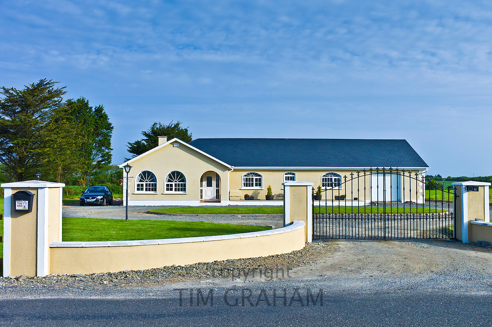 Newly built bungalow on road to Kilmore in Ireland. EU funds led to 'Celtic tiger' investment in the Republic