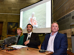 Pictured: Katie's mum, Linda Allan at the press conference, supported by Katie's dad Stuart Allan and solicitor Aamer Anwar.<br /> <br /> The family of Katie Allan, who committed suicide in Polmont Young Offenders Institute in June after pleading guilty to drink driving and causing injury thru dangerous driving, launched a campaign calling for more awareness of mental health issues within the justice system, after it was claimed the 21 year old suffered daily bullying leading up to her death.<br /> <br /> © Dave Johnston / EEm