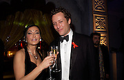 Nancy Dell'Olio and Toby Rowland . British Red Cross tenth annual Ball. 'The Room' South Bank. London. 1 December 2004. ONE TIME USE ONLY - DO NOT ARCHIVE  © Copyright Photograph by Dafydd Jones 66 Stockwell Park Rd. London SW9 0DA Tel 020 7733 0108 www.dafjones.com