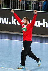 Andreas Wolff of Germany celebrates during handball match between National Teams of Slovenia and Germany in 2018 Men's World Championship Qualifications, on May 3, 2017 in SRC Stozice, Ljubljana, Slovenia. Photo by Morgan Kristan / Sportida