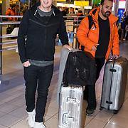 NLD/Amsterdam/20180209 - 538-team van Edwin Evers vertrekt naar de  Olympische Spelen, Edwin Evers en Niels van Baarlen