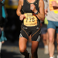 25 October 2010; Clare Fleming, England, in action during the Lifestyle Sports - adidas Dublin Marathon 2010. Picture credit: Barry Cregg / SPORTSFILE *** NO REPRODUCTION FEE ***