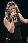 Kelly Clarkson performs at RadioNow 93.1's Santa Slam at the Pepsi Coliseum in Indianapolis, IN on Dec 2, 2004. Photo by Michael Hickey