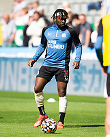 Football - 2021 / 2022 Premier League - Newcastle United vs Southampton - St Jame's Park - Saturday 28th August 2021<br /> <br /> Allan Saint-Maximin of Newcastle United is seen during the warm up<br /> <br /> Credit: COLORSPORT/Bruce White
