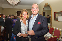 (l to r) Sherley Finnegan and Iain Finnegan at the Classic Dragon Reunion in the Royal St George Yacht Club (Dún Laoghaire) where a large number of current and classic Dragon sailors gathered to celebrate the long (and continued) success of the class.