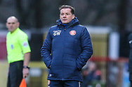 Stevenage manager Graham Westley during the EFL Sky Bet League 2 match between Stevenage and Forest Green Rovers at the Lamex Stadium, Stevenage, England on 26 December 2019.
