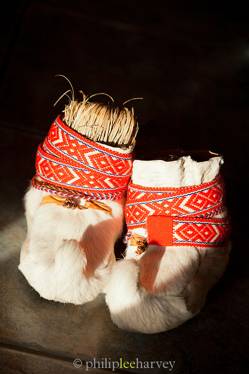 Traditional Sami clothing, Lapland, Finland.