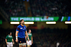 Pascal Pape of France looks on during a break in play - Mandatory byline: Patrick Khachfe/JMP - 07966 386802 - 11/10/2015 - RUGBY UNION - Millennium Stadium - Cardiff, Wales - France v Ireland - Rugby World Cup 2015 Pool D.