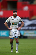 Callum Gibbins of Glasgow Warriors looks on.  Guinness Pro14 rugby match, Ospreys v Glasgow Warriors Rugby at the Liberty Stadium in Swansea, South Wales on Sunday 26th November 2017. <br /> pic by Andrew Orchard, Andrew Orchard sports photography.