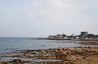 View of Sandycove and Joyce's tower in Dublin Ireland