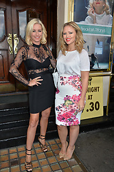 Left to right, DENISE VAN OUTEN and KIMBERLEY WALSH at the opening night of Breakfast at Tiffany's at The Theatre Royal, Haymarket, London on 26th July 2016.