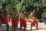 Dancers, Omoa village, Fatu Hiva, Marquesas, French Polynesia, (Editorial use only, no model release)<br />