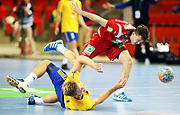 Håndball , 06. juni 2013 , Scandinavian Open , herrer , Norge - Sverige<br /> Norway - Sweden , handball<br /> Gøran Sørheim , Norge<br /> Anton Halen , Sverige