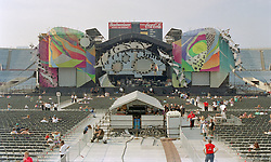 Fans gather for the Grateful Dead Concert at Soldier Field Chicago. The last show ever performed by the band, July 9, 1995.