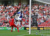 Photo: Andrew Unwin.<br />Middlesbrough v Blackburn Rovers. The Barclays Premiership. 23/09/2006.<br />Blackburn's Shabandi Nonda (C) scores his team's first goal.