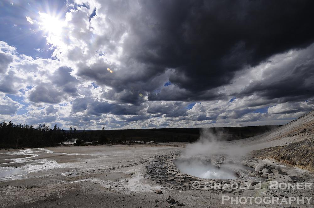 Crater Hills Geyser (Sulphur Spring) in Hayden Valley, Yellowstone National Park, Wyo.
