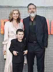 Rampage Premiere at The Microsoft Theatre in Los Angeles, California on 4/4/18. 04 Apr 2018 Pictured: Jeffrey Dean Morgan, Hilarie Burton. Photo credit: River / MEGA TheMegaAgency.com +1 888 505 6342