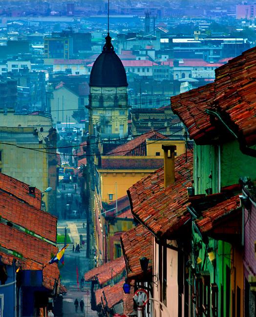 Colombia, Bogota, Historic La Candelaria Neighborhood,  17th Century Cupola Of The College of San Bartolome, Spanish Colonial, South America