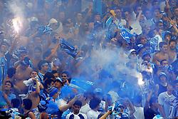 Torcida Gremista na partida entre as equipes do Internacional e Gremio (RS) realizada no Estadio da Beira Rio, em Porto Alegre, valida pela final do Campeonato Gaucho. FOTO: Jefferson Bernardes/Preview.com