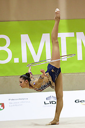 Monija Cebasek of Slovenia competes during 28th MTM - International tournament in rhythmic gymnastics Ljubljana, on April 4, 2015 in Arena Krim, Ljubljana, Slovenia. Photo by Matic Klansek Velej / Sportida