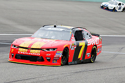 November 16, 2018 - Homestead, FL, U.S. - HOMESTEAD, FL - NOVEMBER 16: Justin Allgaier, driver of the #7 BRANDT Proffesional Agriculture Chevy, during practice for the NASCAR Xfinity Series playoff race, the Ford EcoBoost 300 on November, 16, 2018, at Homestead - Miami Speedway in Homestead, FL. (Photo by Malcolm Hope/Icon Sportswire) (Credit Image: © Malcolm Hope/Icon SMI via ZUMA Press)