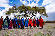 Traditional Masai Jumping Dance at a Masai Village, Tanzania, East Africa