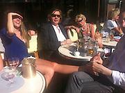 MIKE VON JOEL; CLAUDIA WOLFERS, Cafe, Sloane Sq. Chelsea,  London. 10 July 2013.