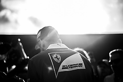 August 24, 2017 - Spa, Belgium - Black and white image of 05 VETTEL Sebastian from Germany of scuderia Ferrari signing autographs during the Formula One Belgian Grand Prix at Circuit de Spa-Francorchamps on August 24, 2017 in Spa, Belgium. (Credit Image: © Xavier Bonilla/NurPhoto via ZUMA Press)