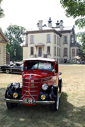 04 August 2012: 1938 International D2 1/2 ton pickup truck displayed at the McLean County Antique Automobile Club Show at the David Davis Mansion, Bloomington IL