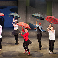 Picture shows :  Glasgow Girls Dress Rehearsal...(l-r).Dawn Sievewright, Roanna Davidson, Frances Thorburn, Amaka Okafor, Stephanie McGregor,Ameira Darwish...Picture © Drew Farrell. Tel 07721-735041...National Theatre of Scotland, Theatre Royal Stratford East, Citizens Theatre, Pachamama Productions, Richard Jordan Productions Ltdin association with Merrigong Theatre Company (Australia) present..WORLD PREMIERE of Glasgow Girls opens 31 October 2012 at the Citizens Theatre, Glasgow.Inspired by a true story.Conceived for the stage and directed by Cora Bissett. Book by David Greig.Music and Lyrics by Cora Bissett, Sumati Bhardwaj (MC Soom T), Patricia Panther and John Kielty.  Set Design by Merle Hensel, Musical Direction by Hilary Brooks, Choreography by Natasha Gilmore, Lighting Design by Lizzie Powell and Sound Design by Fergus O'Hare..The full cast is: Callum Cuthbertson, Ameira Darwish, Roanna Davidson, Stephanie McGregor, Myra McFadyen, Amaka Okafor, Patricia Panther, Dawn Sievewright and Frances Thorburn. ..Based on the true story of one of the most vocal and powerful asylum campaigns to catch the imagination of the media and inspire a community to unite behind its residents, Glasgow Girls is a brand new life-affirming Scottish musical with seven strong female leads and a vibrant multi-cultural voice at its heart. The musical promises to be a celebration of Glasgow and the power of teenagers with a cause.??The Glasgow Girls are a group of seven young women who have highlighted the poor treatment of failed asylum seekers. The group of girls from Drumchapel High School protested against the detention of one of their friends, Agnesa Murselaj, who had fled from war-torn Kosovo. Publicity grew as the girls challenged the First Minister and publicly voiced their concerns as more children at their school were dawn raided, detained and deported. Two BBC television documentaries have been made of their story. .Press contacts:..Clare McCormack, Press Officer.Tel: +44 (0)