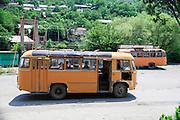 Armenian public transport bus Haghpat, Lori Province, Armenia