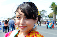 """Sunday's crowds along East Alisal Street in Salinas celebrated the symbolic beginning of Mexico's revolution against Spanish rule, with an afternoon long fiesta culminating in the reenactment of """"El Grito,"""" or """"The Cry of Independence."""""""