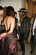 Dash Snow and Shamim Momin, USA Today. Saatchi Gallery and The Royal academy of Arts. Piccadilly. London. 5 October 2006. -DO NOT ARCHIVE-© Copyright Photograph by Dafydd Jones 66 Stockwell Park Rd. London SW9 0DA Tel 020 7733 0108 www.dafjones.com