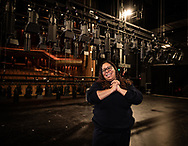 Shareena Clanton backstage at the Heath Ledger Theatre in Perth this morning July 16, 2020.